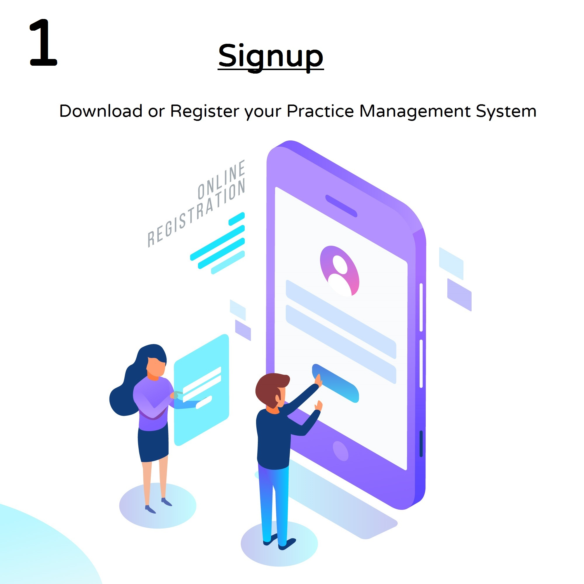Signup image for practice management system